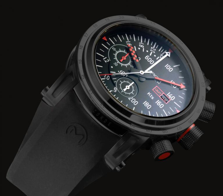 MACH WATCH Modèle Concorde AirSpeed Black Edition