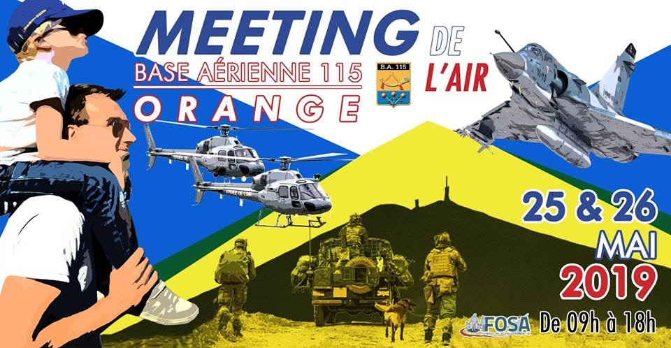 Meeting de l'Air 25 et 26 mai Base aérienne 115 Orange