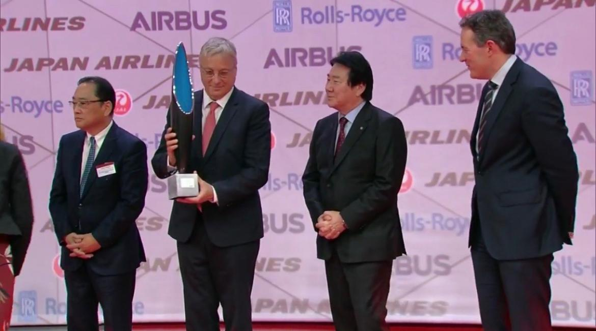 Airbus: Delivery 1er A 350 Japan Airlines
