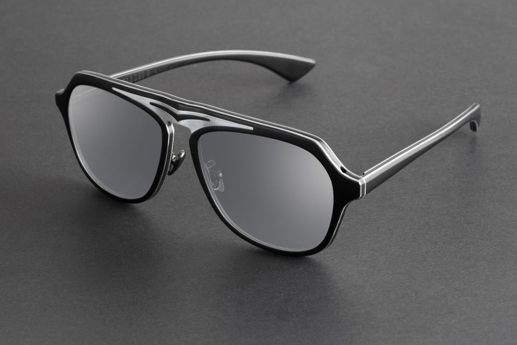 AERO-DESIGN BY GOLD & WOOD - Modèle Supersonic Black & Silver Mirror Edition
