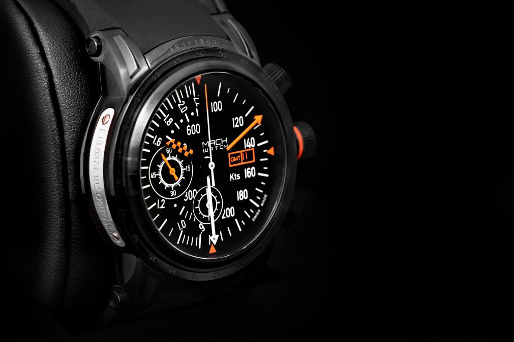 Montre Mach Watch Airspeed modèle Concorde 🖤Black Edition🖤